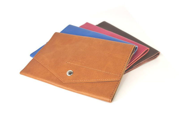 Picture of Microfiber Leather Passport Travel Organiser