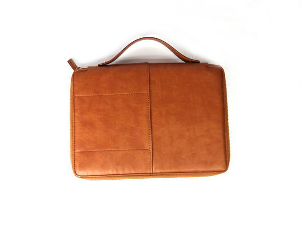 Picture of Microfiber Leather Business Clutch with Handle