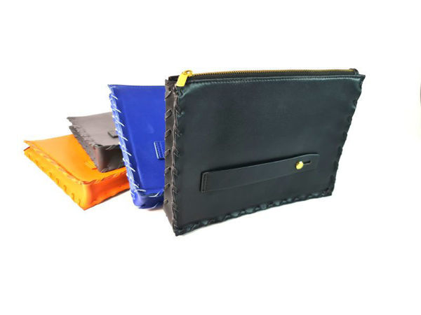 Picture of Microfiber Leather Gusset Travel Organizer