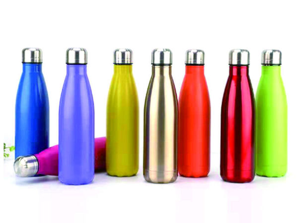 Picture of Stainless Steel Double-Wall Conical Bottle