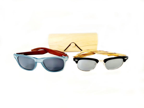 Picture of Wooden Frame Sunglasses in wooden case