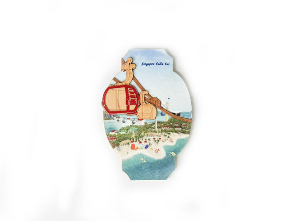 Picture of Reclaimed Wooden Magnet (Colored)