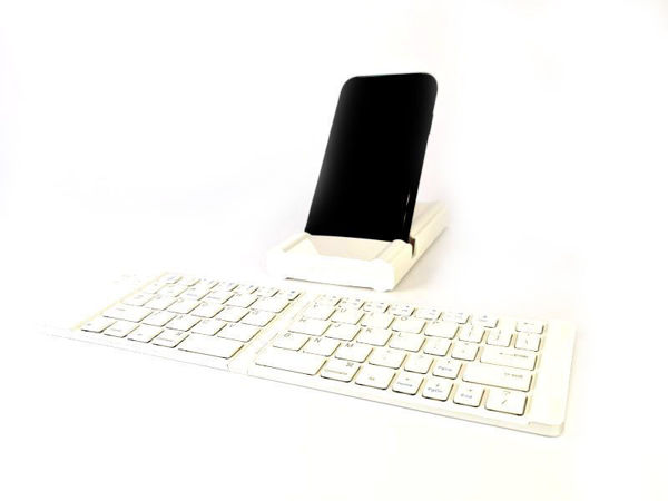 Picture of Wireless Foldable Keyboard with Phone Holder