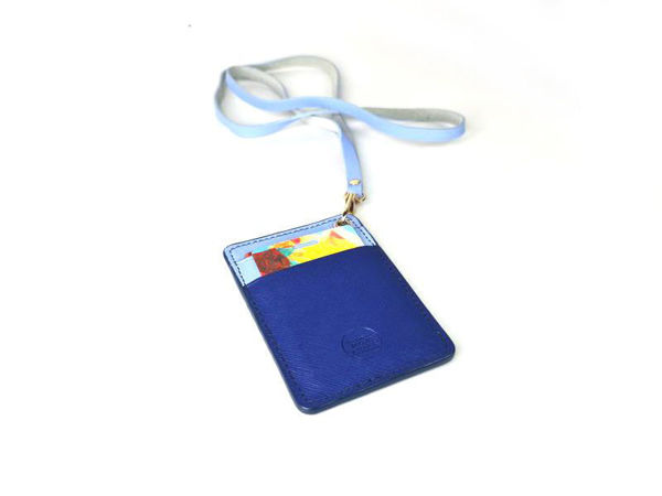 Picture of Heartgifts Leather Card Holder with Lanyard