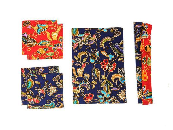 Picture of Heartgifts Batik Placemat, Coasters, Chopstick Set