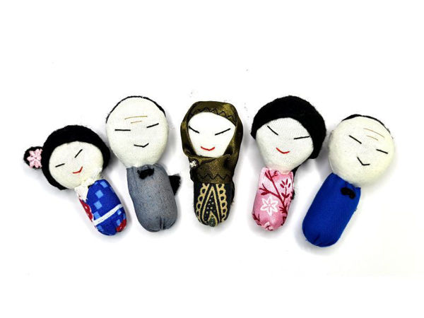 Picture of Heartgifts Doll Brooch Pin (Set of 5)