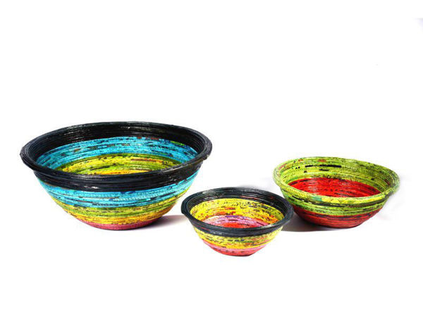Picture of Re-cycled Newspaper Round Bowls