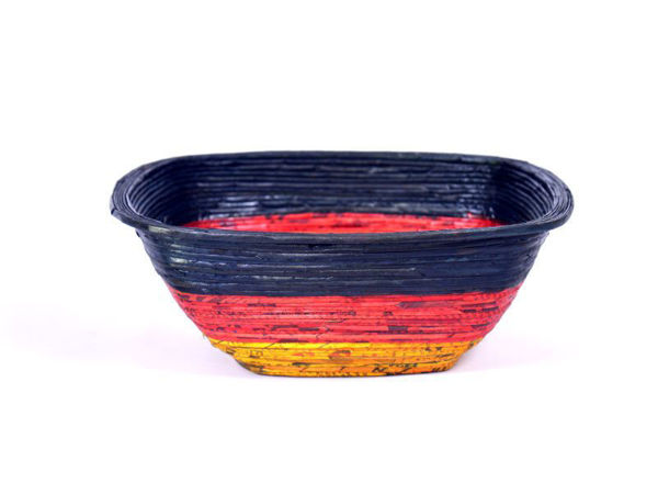 Picture of Re-cycled Newspaper Square Bowls