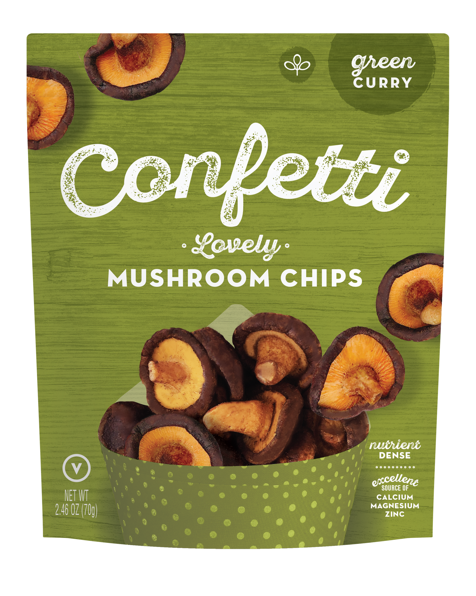 Confetti Lovely Mushroom Chips - Green Curry [+$1.00]