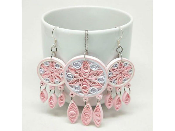 Picture of Dream Catcher Pendant & Earrings