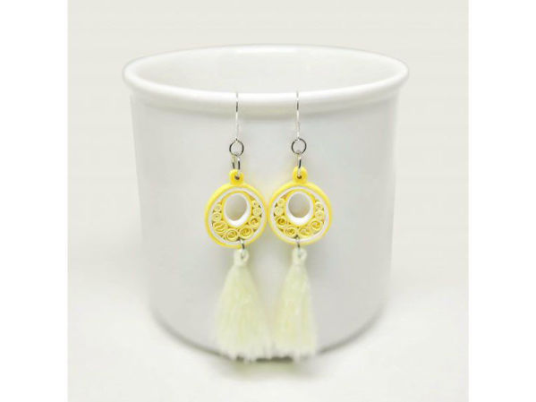 Picture of Sunshine Tassel Earrings