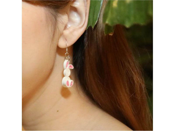 Picture of Easter Bunny Ear Rings