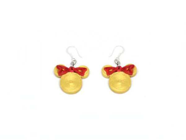 Picture of Mouse Earrings In Gold