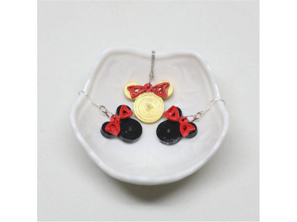 Picture of Mouse Pendant & Earrings Set