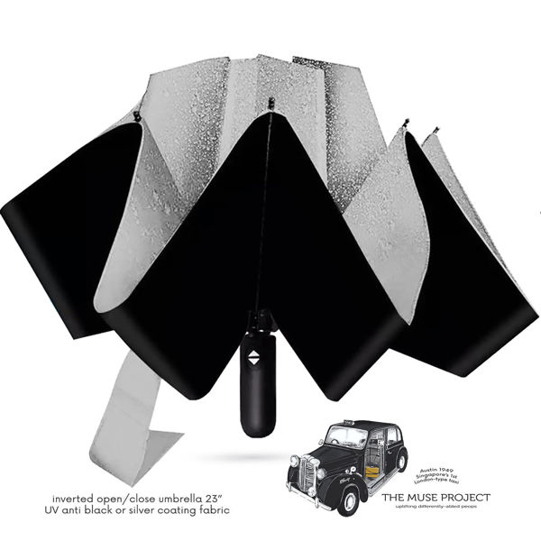 Picture of JTMUSES-Inverted Umbrella Auto-Open 3-fold with UV Protection