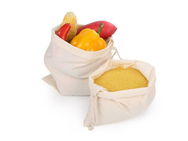 Picture of 100% Organic Muslin Cotton Produce Bags!( set of 2)