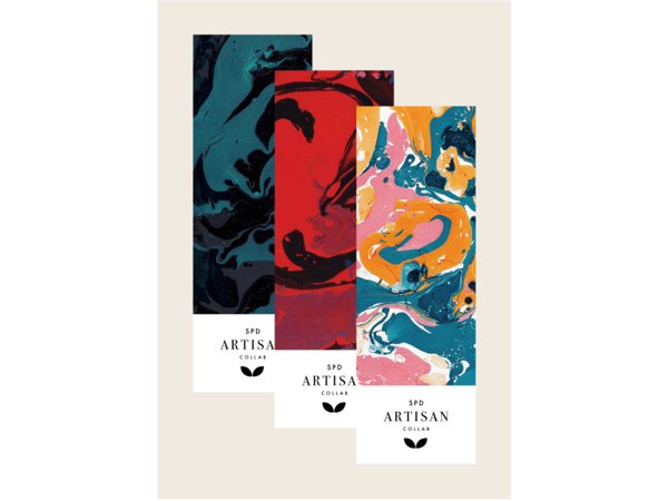 Picture of Marbled Gift Card (bookmark size--pack of 3)
