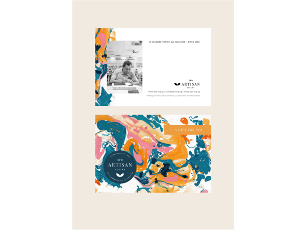 Picture of Marbled Gift Cards (postcard size)