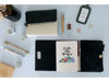 Picture of Black Cream Leather Pursebook