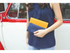 Picture of Mustard Navy Leather Pursebook