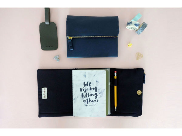 Picture of Navy Blue Leather Pursebook