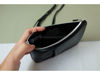 Picture of Black Leather Dual Zip Sling Bag