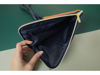 Picture of Camel Navy Leather Dual Zip Sling Bag