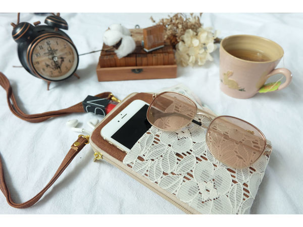 Picture of Lace Dual Zip Sling Bag