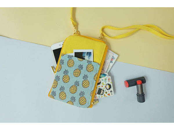 Picture of Pineapple Dual Zip Sling Bag