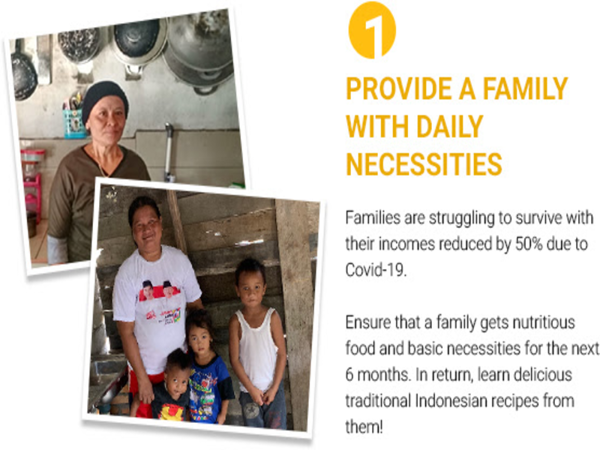 Picture of Provide a Family with basic necessities