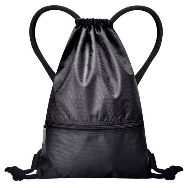 Picture of Premium Drawstring Bag with Front Pocket