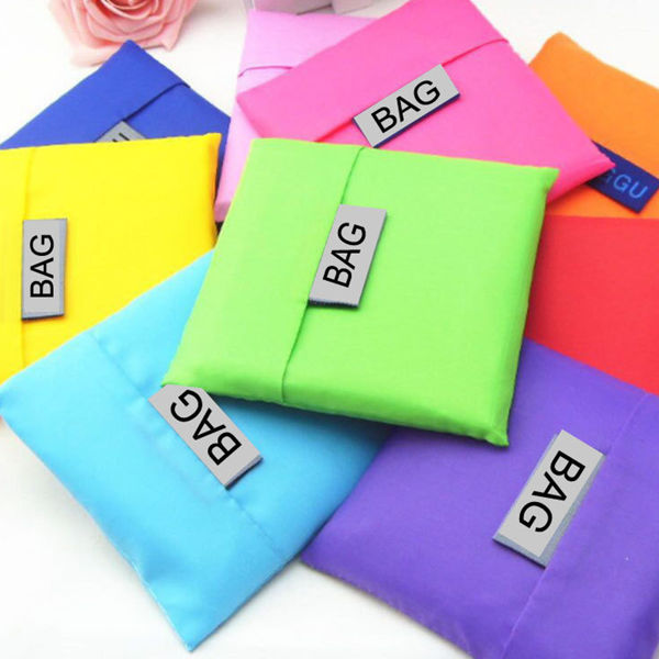 Picture of Foldable Polyester Eco Bag (Square Pouch) - Plain Colour