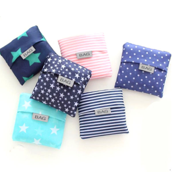 Picture of Foldable Polyester Eco Bag (Square Pouch) - With Patterns