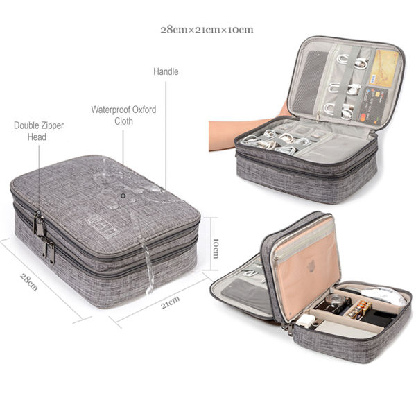 Picture of Triple Layer Gadget Organiser Pouch