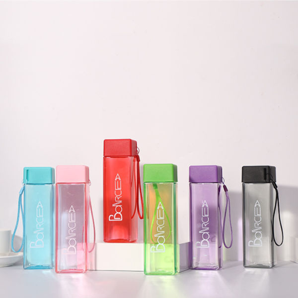 Picture of 430ml Square Plastic Water Bottle
