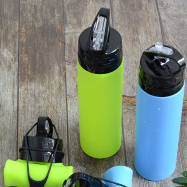 Picture of 600ml Roll-up Silicon Water Bottle