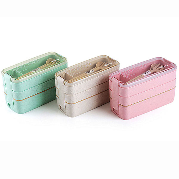 Picture of 3-Tier Wheatstraw Lunchbox