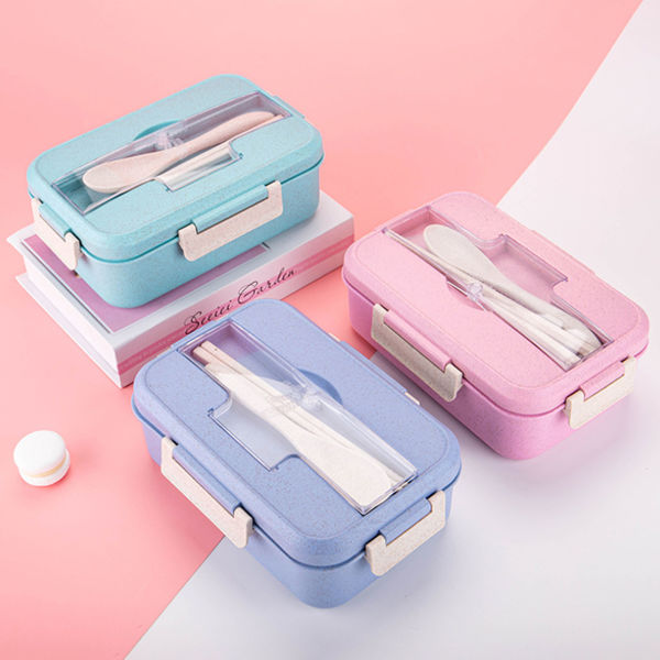 Picture of 1.2L Wheatstraw Lunchbox with Cutlery