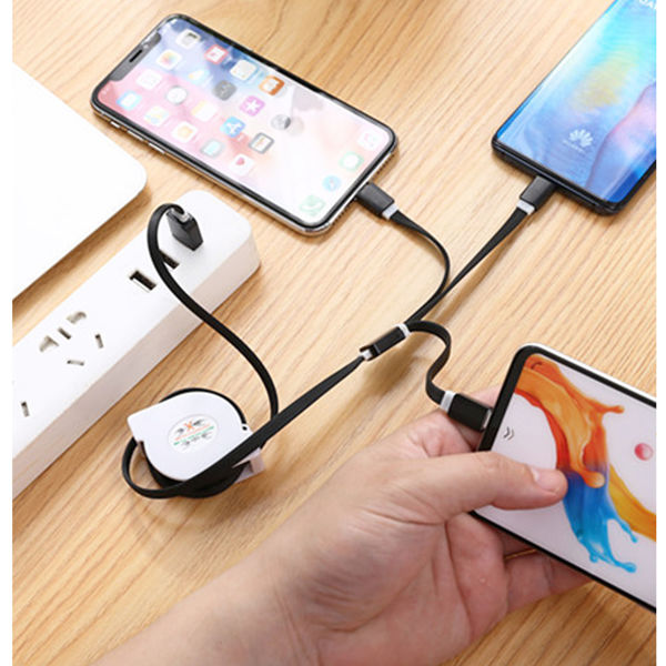 Picture of Retractable 3-in-1 Charging Cable - Variation 1