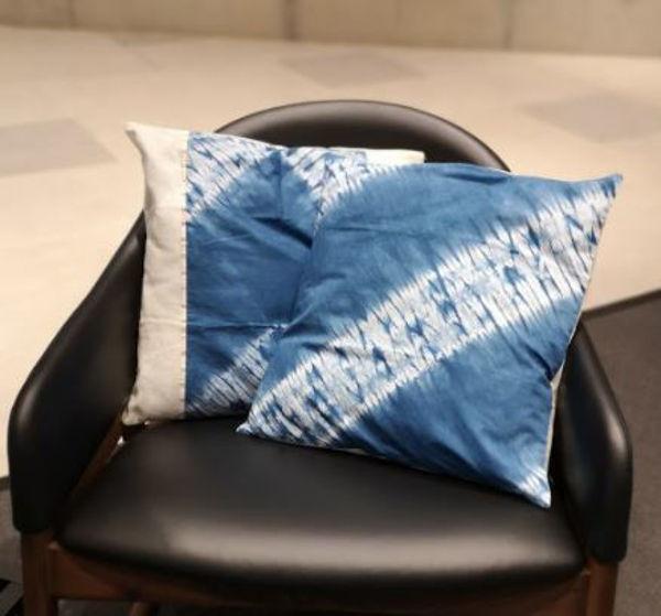Picture of Organic  Tie Dye Indigofera cushion covers
