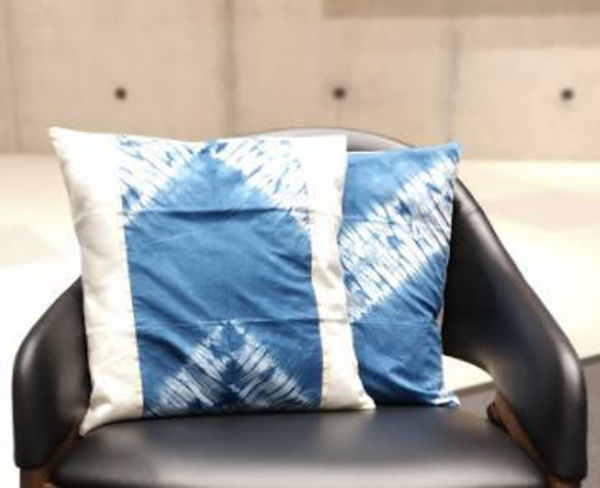 Picture of Organic Batik Cushion Cover with applique