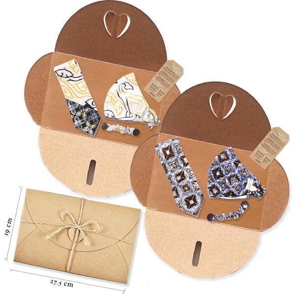 Picture of Premium Gift Set : Organic Batik Tie and matching face mask set