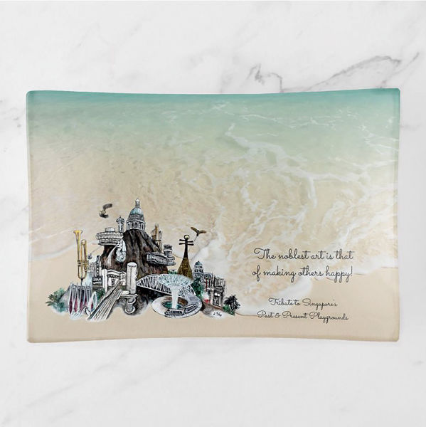 """Picture of JTMUSES-TMP Medium Trinket Tray 5""""x7"""""""