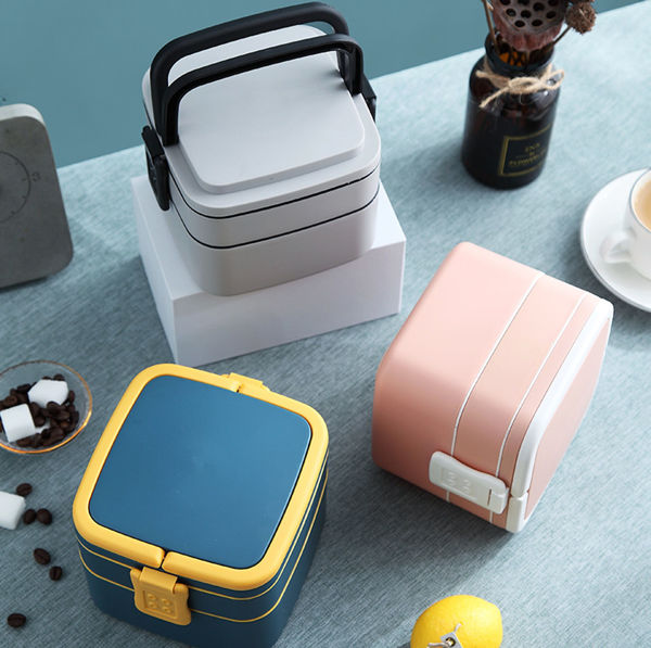 Picture of Double Layer Square Lunch Box