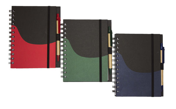 Picture of Recycled Notebook With Elastic Band