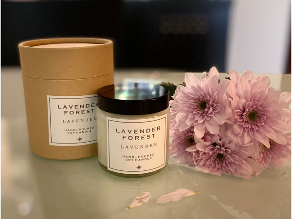 Picture of Lavender Essential oil Candles