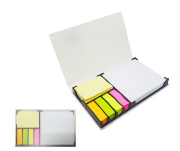 Picture of Notepad with post-it in translucent pvc cover