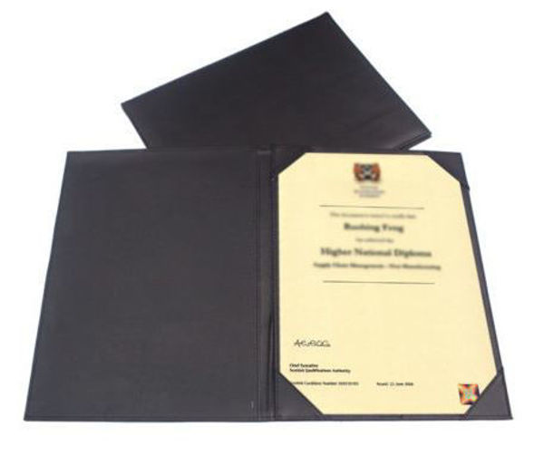 Picture of Single Sided PU Certificate Holder