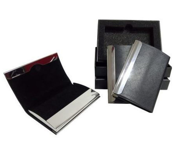 Picture of Magnetic PU Namecard Holder with black box