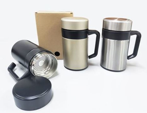 Picture of 13oz/350ml Double Wall Thermos Mug with filter